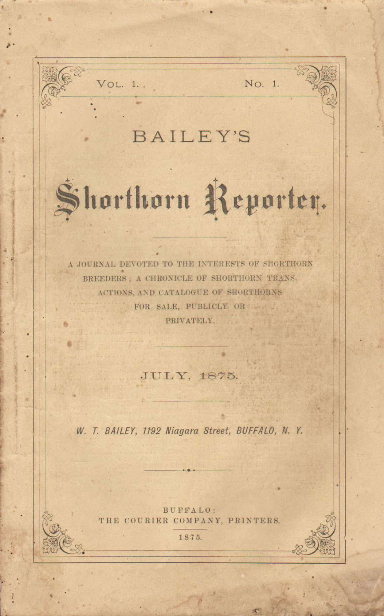 Bailey's Shorthorn Reporter