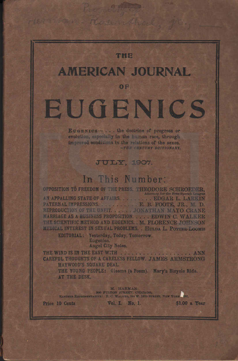 American Journal of Eugenics