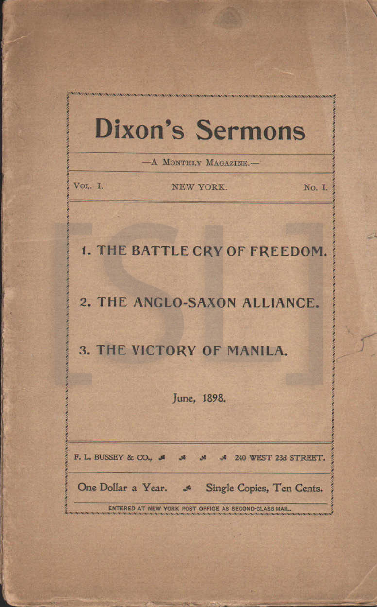 Dixon's Sermons. A Monthly Magazine