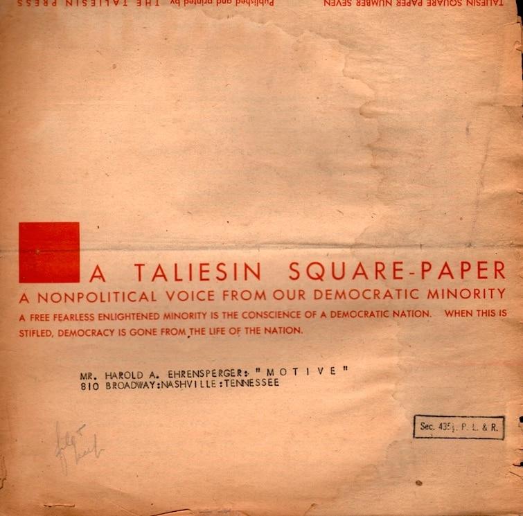 Taliesin Square Paper