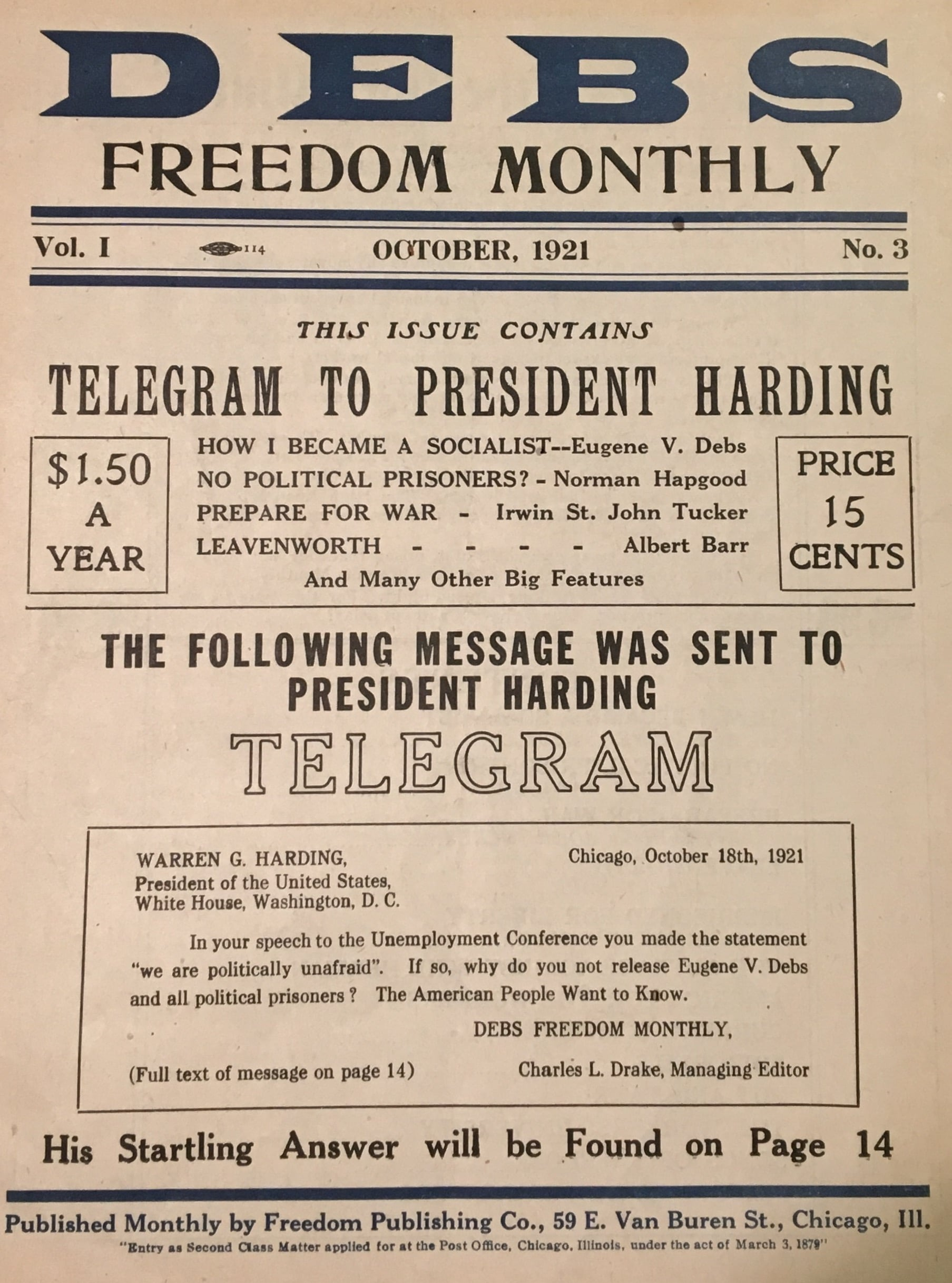 Debs Freedom Monthly