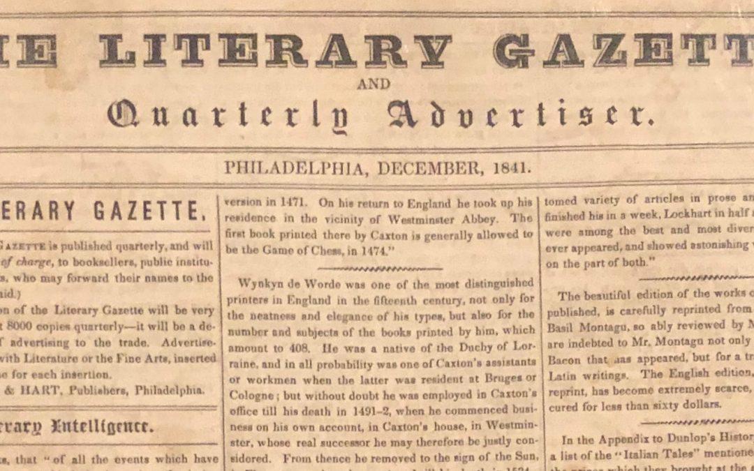 Literary Gazette and Quarterly Advertiser