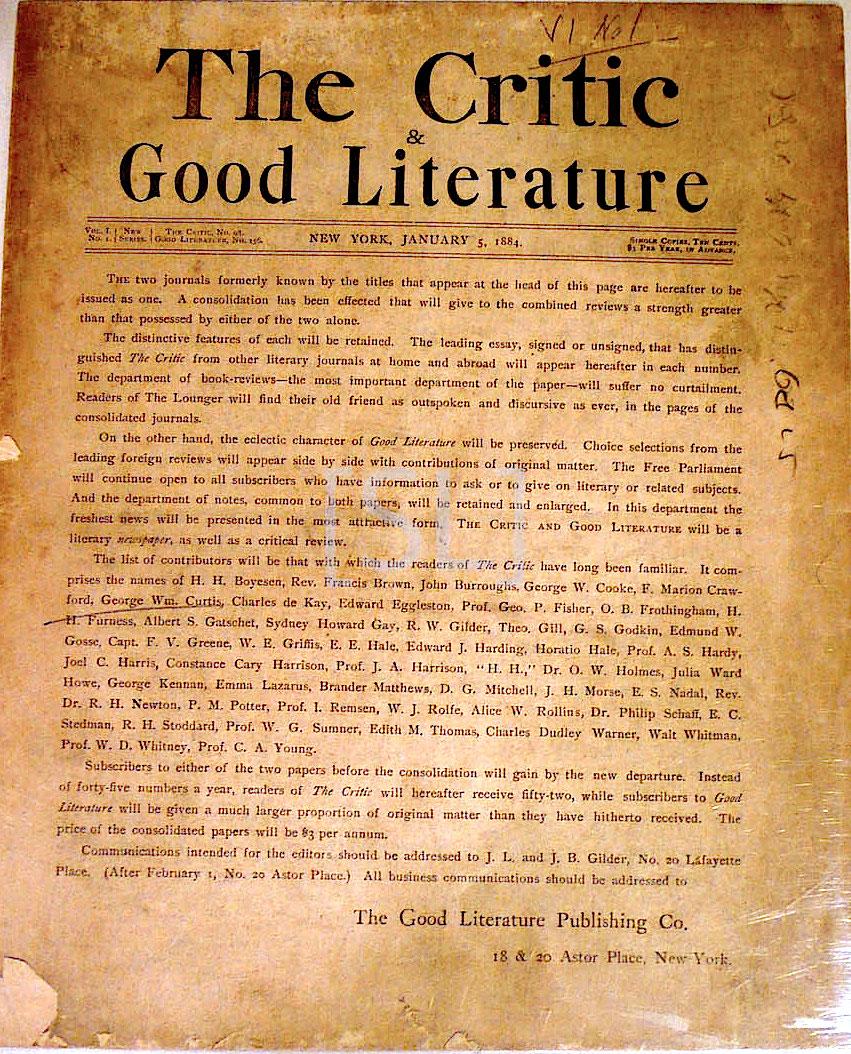 Critic & Good Literature