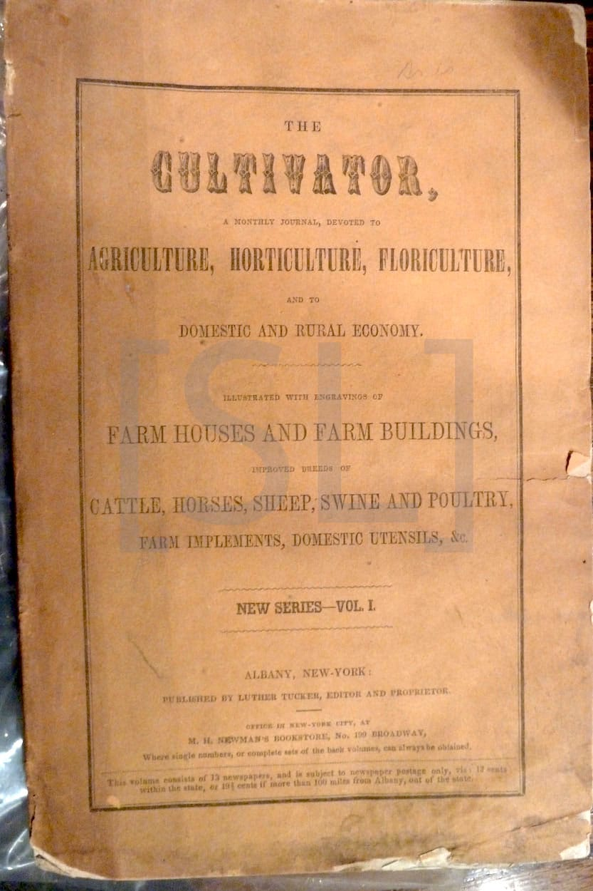 Cultivator, A Monthly Journal, Devoted to Agriculture, Horticulture, Floriculture, and to Domestic Rural Economy