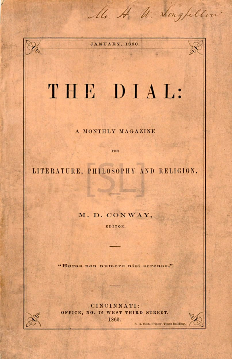 Dial: A Monthly Magazine for Literature, Philosophy, and Religion