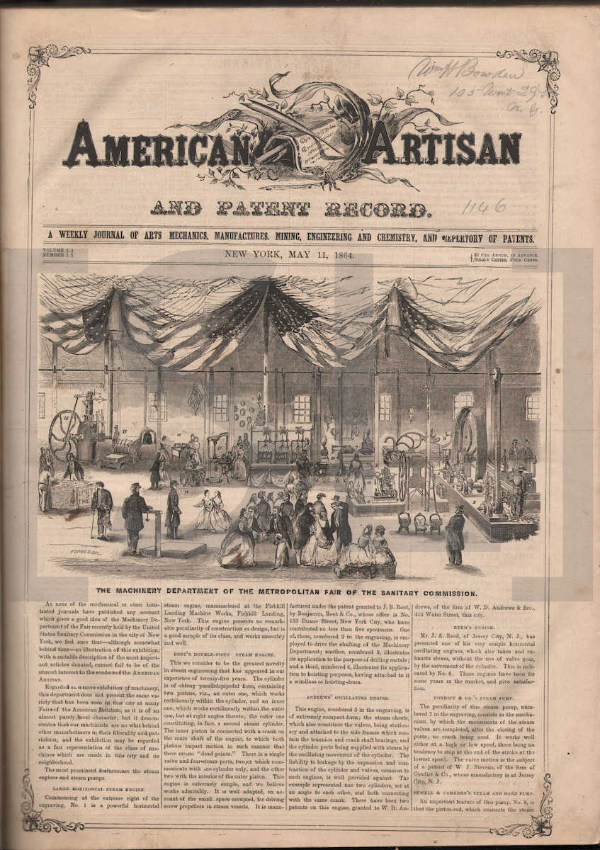 American Artisan; and Patent Record
