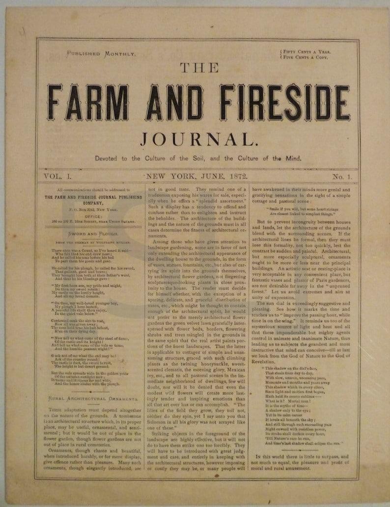 Farm and Fireside Journal