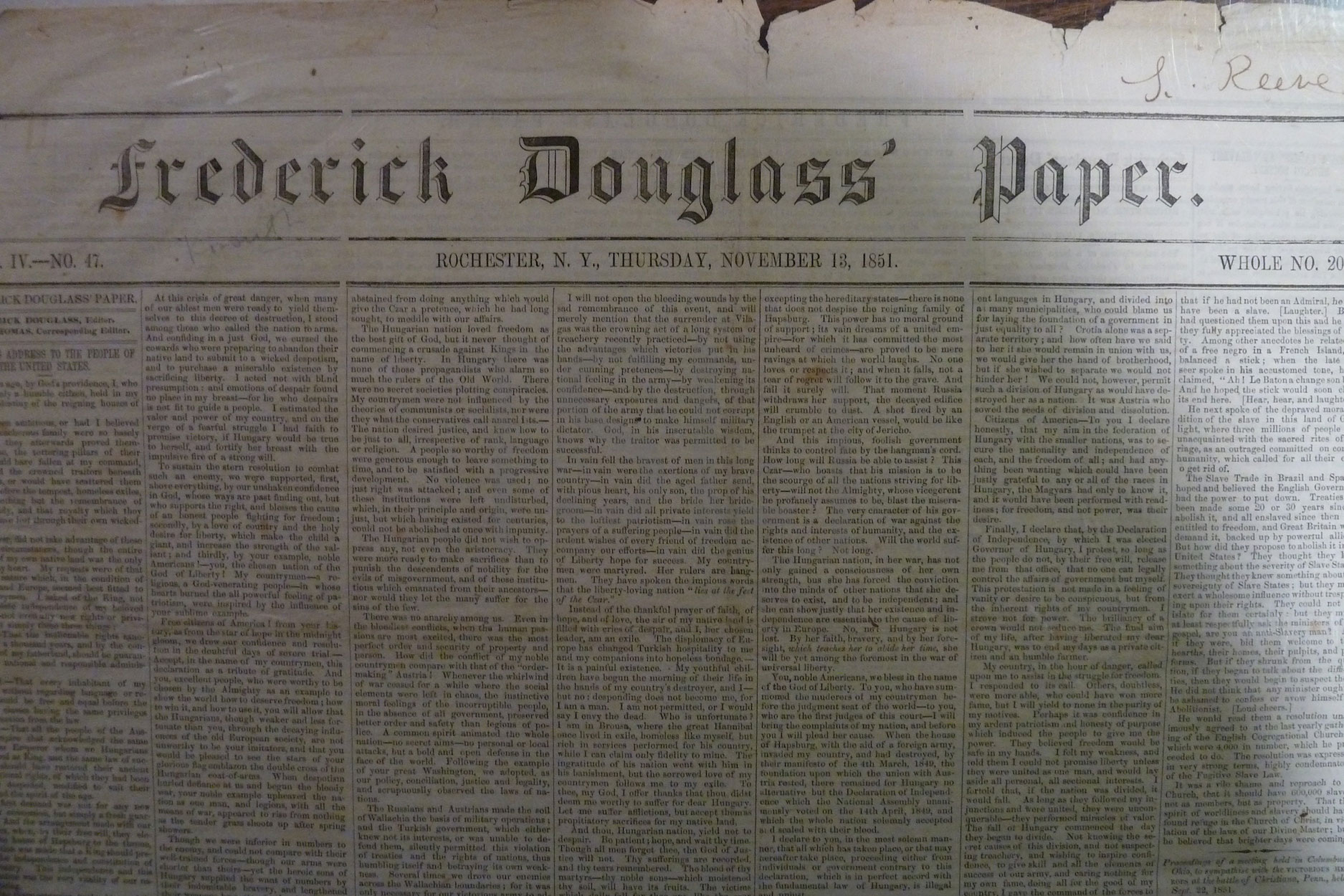 Frederick Douglass' Paper
