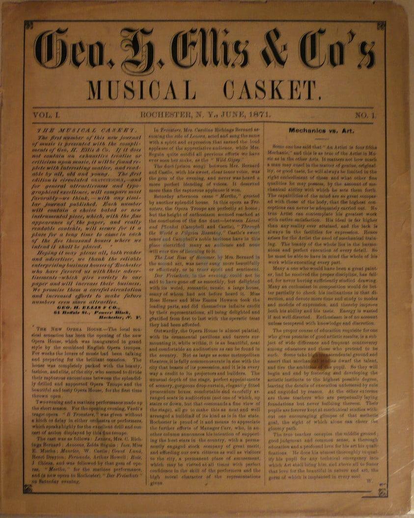 Geo H. Ellis & Co. Musical Casket