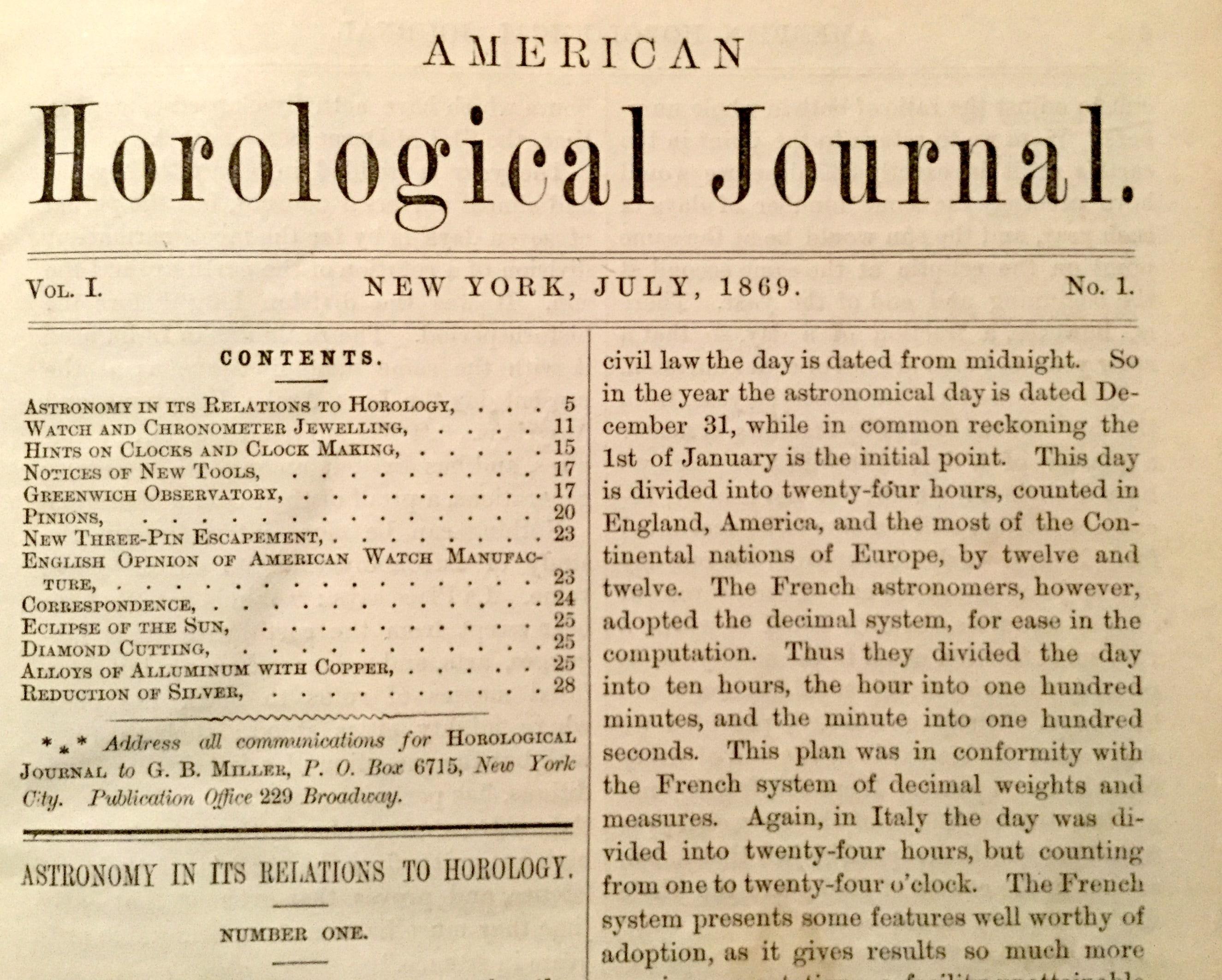 American Horological Journal