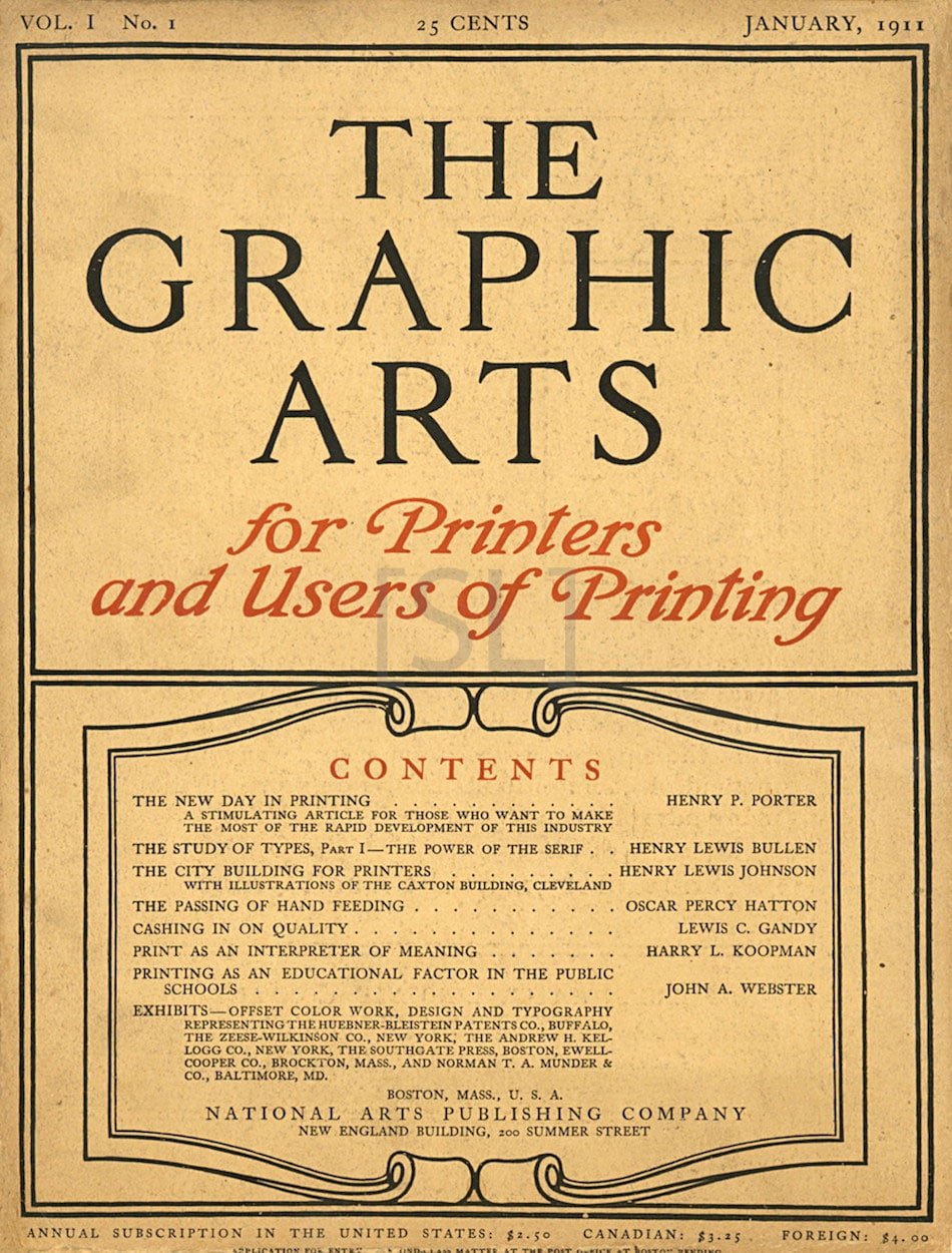 Graphic Arts. For Printers and Users of Printing