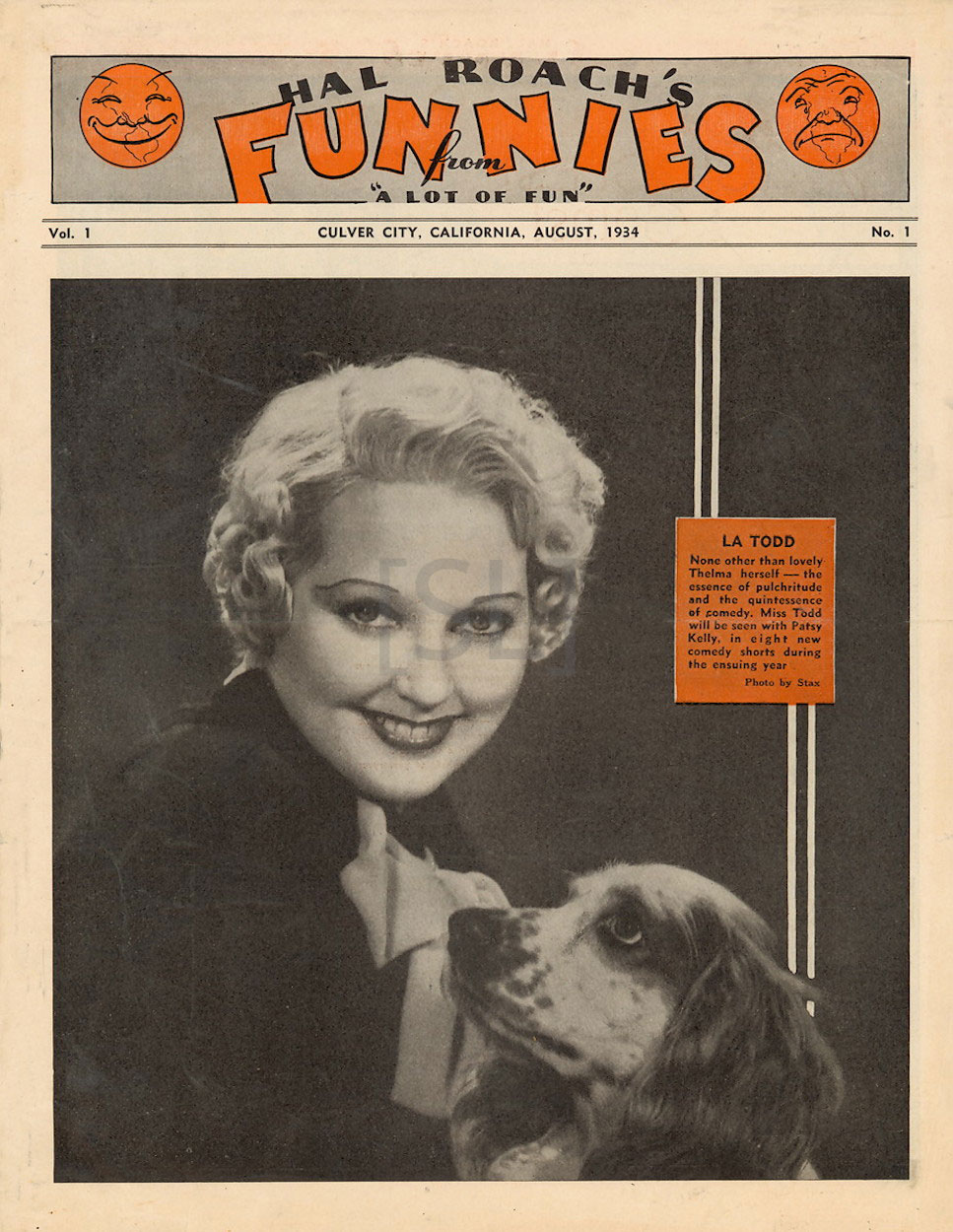 """Hal Roach's Funnies from """"a Lot of Fun"""""""