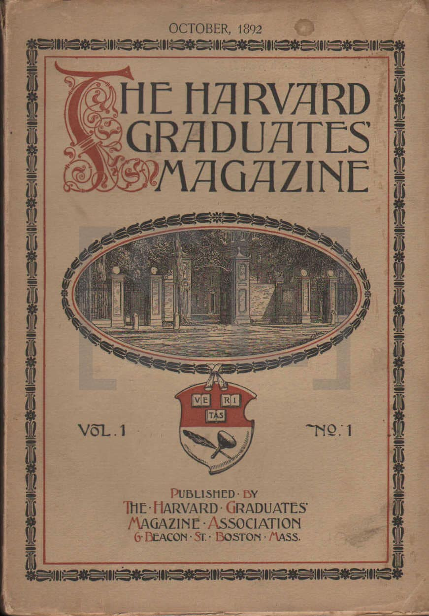 Harvard Graduates Magazine