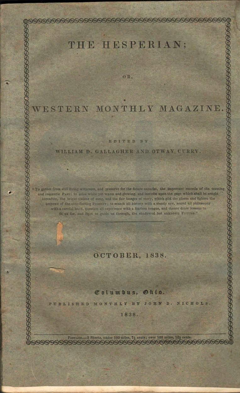 Hesperian; Or Western Monthly Magazine