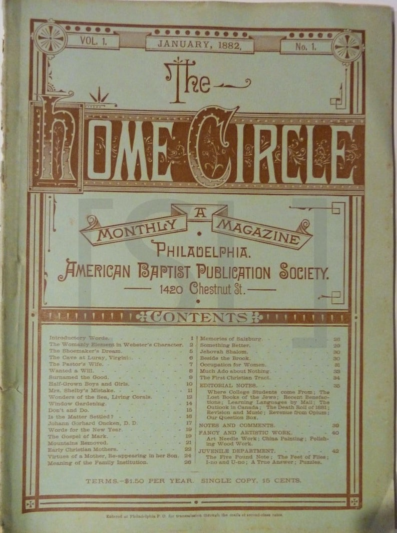 Home Circle; A Monthly Magazine