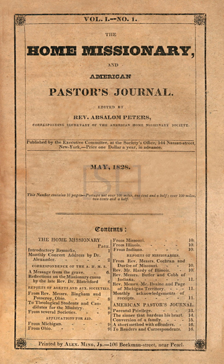 Home Missionary and American Pastor's Journal