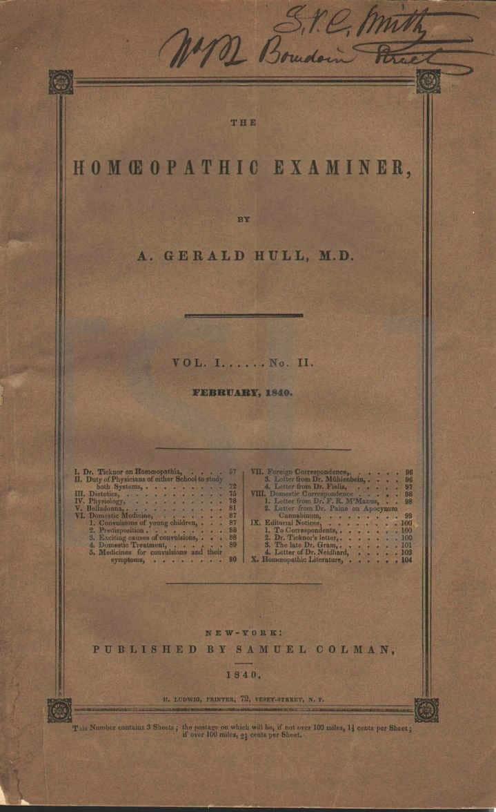 Homeopathic Examiner