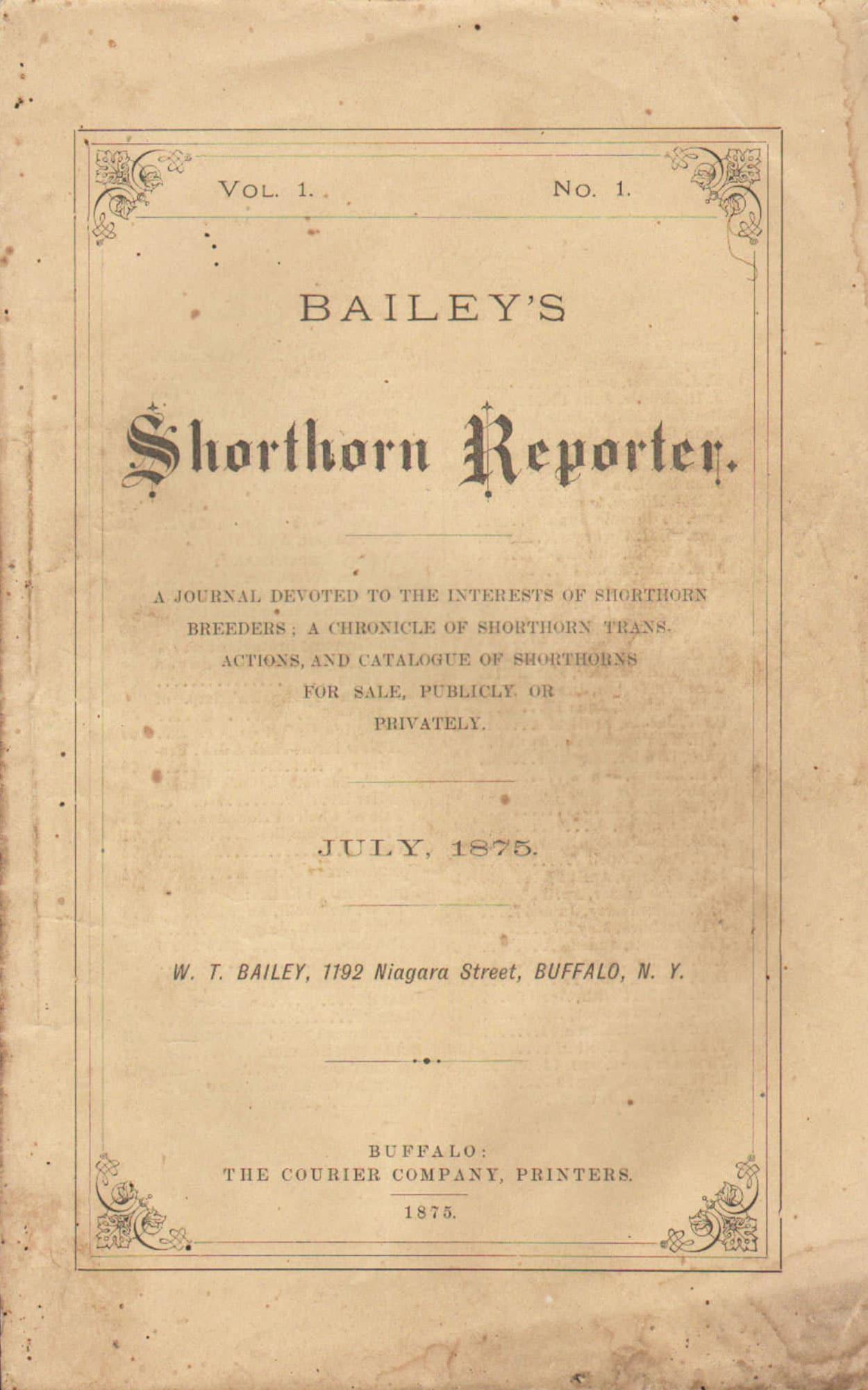 Bailey's Shorthorn Reporter