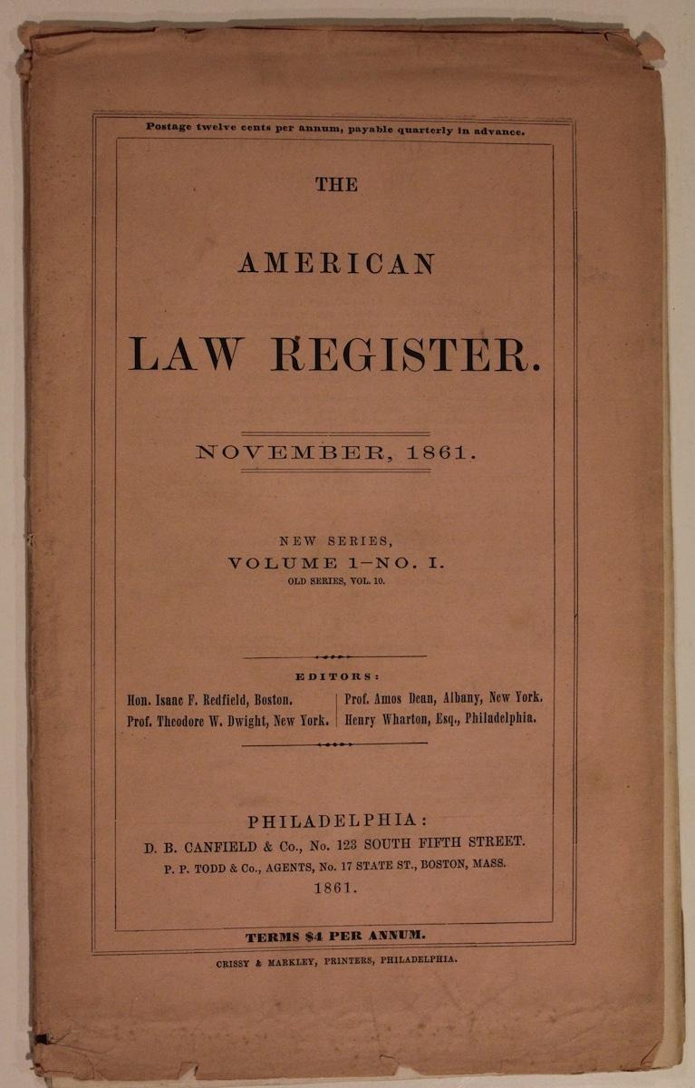 American Law Register