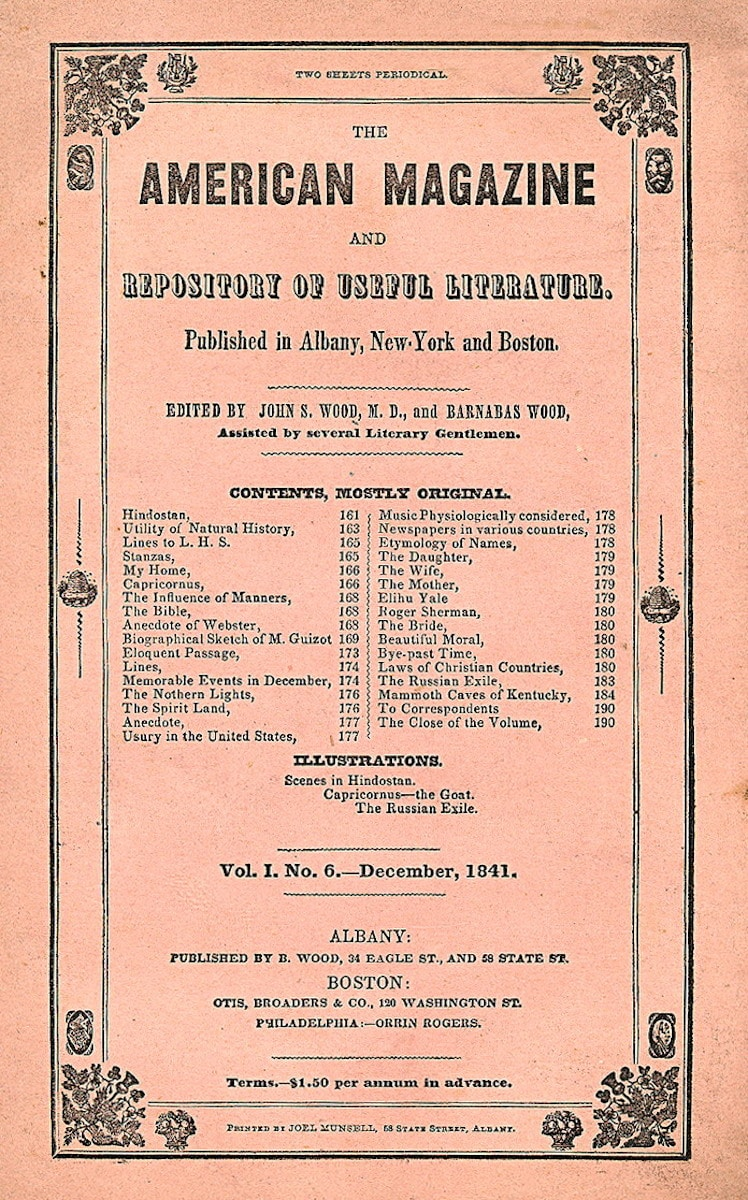 American Magazine and Repository of Useful Literature