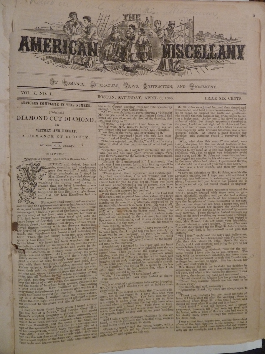 American Miscellany of Romance, Literature, News, Instruction and Amusement