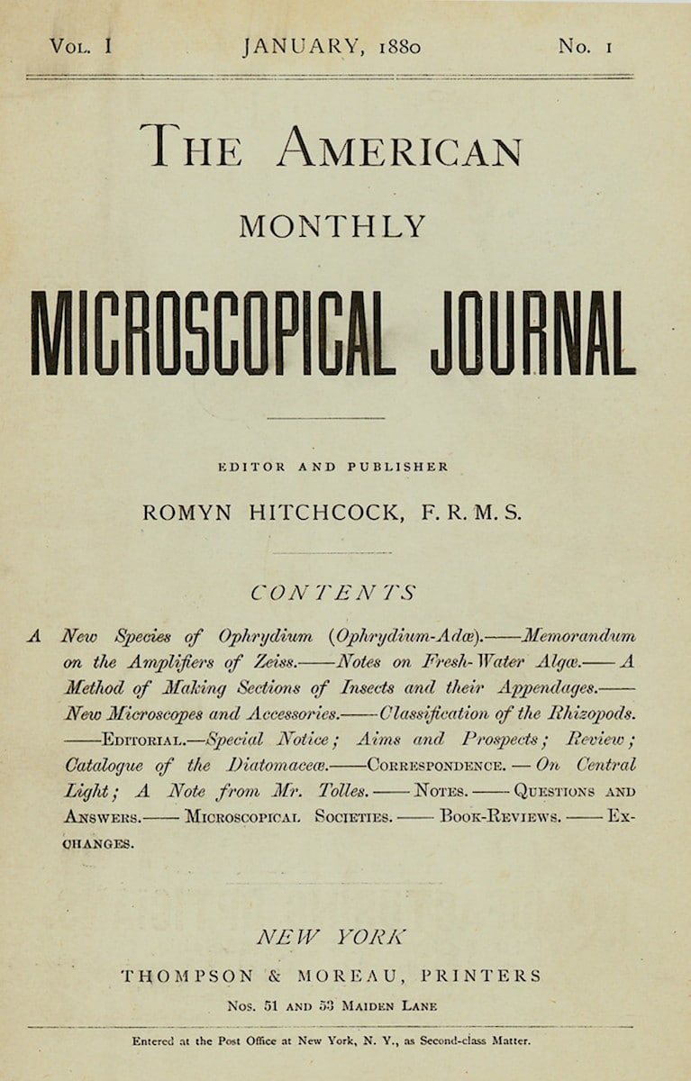 American Monthly Microscopical Journal