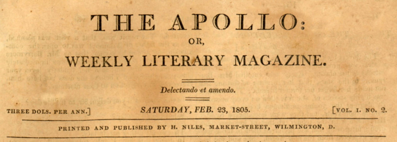 Apollo: Or, Weekly Literary Magazine.