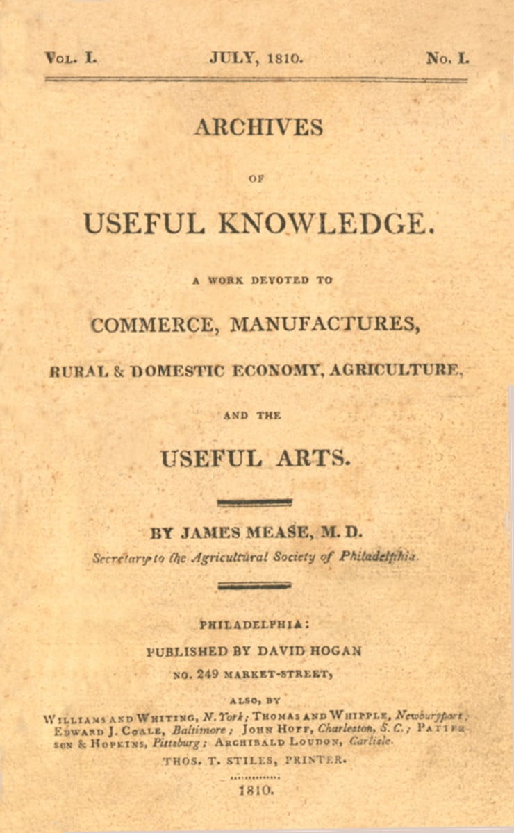 Archives of Useful Knowledge