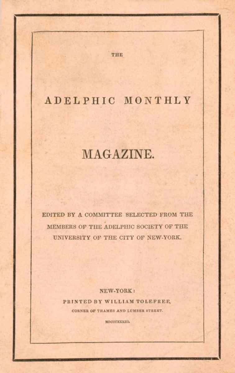 Adelphic Monthly Magazine