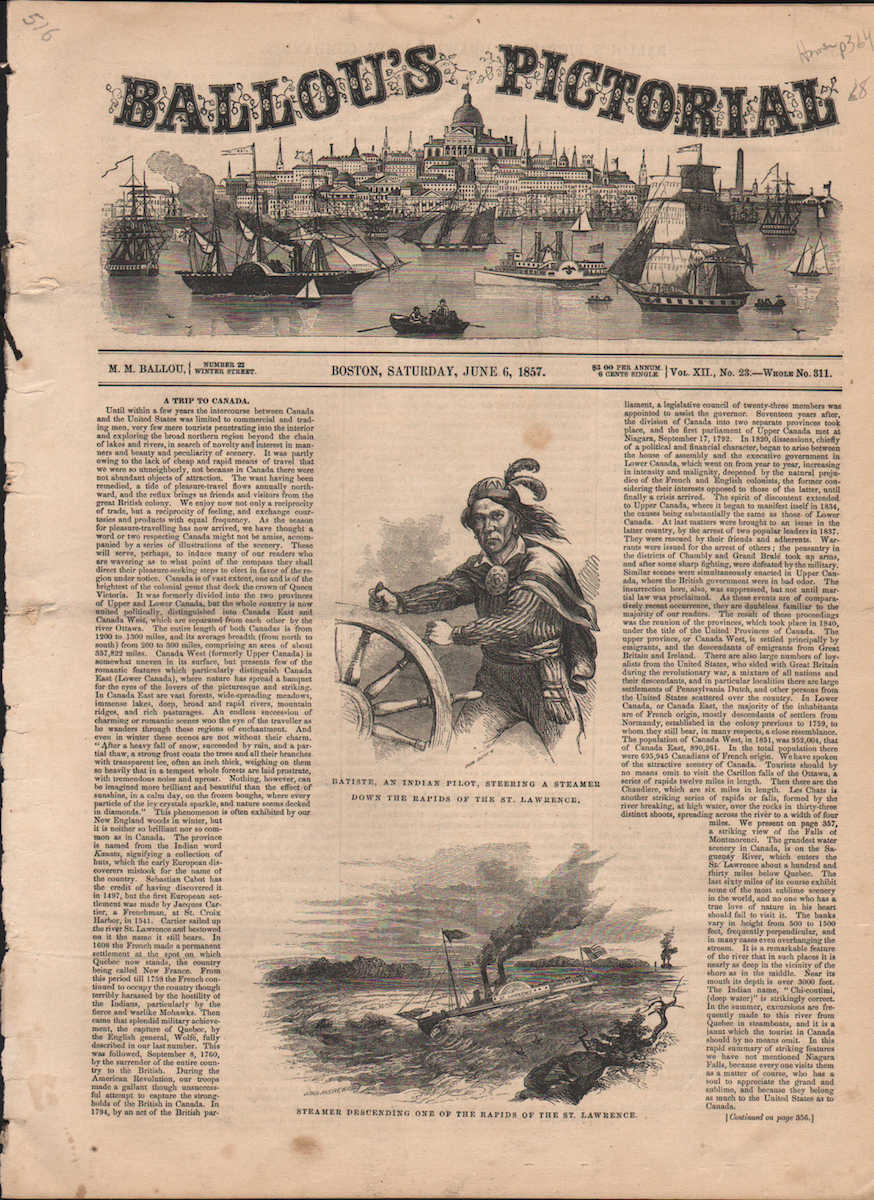 Ballou's Pictorial; Drawing Room Companion