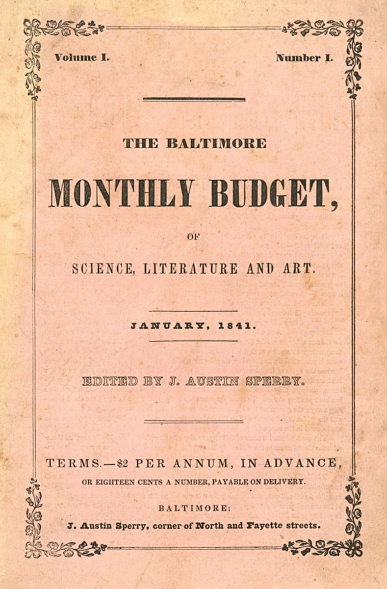 Baltimore Monthly Budget of Science, Literature and Art