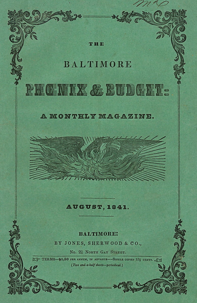 Baltimore Phoenix and Budget, A Monthly Magazine