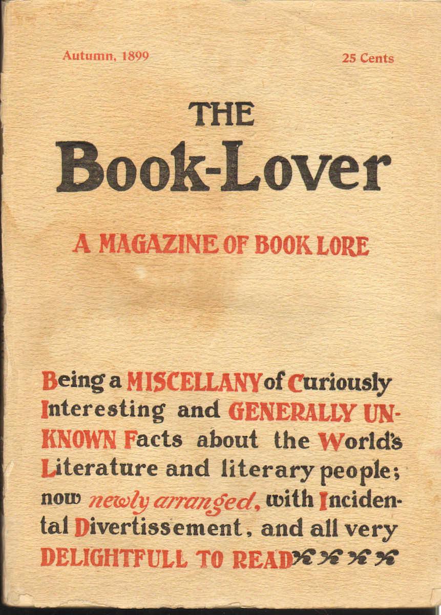 Book-Lover, A Magazine of Book Lore