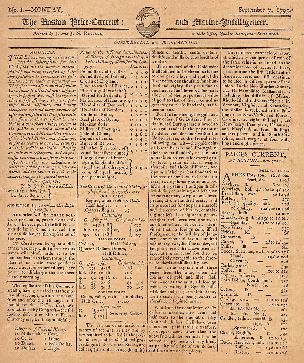 Boston Price-Current and Marine-Intelligencer