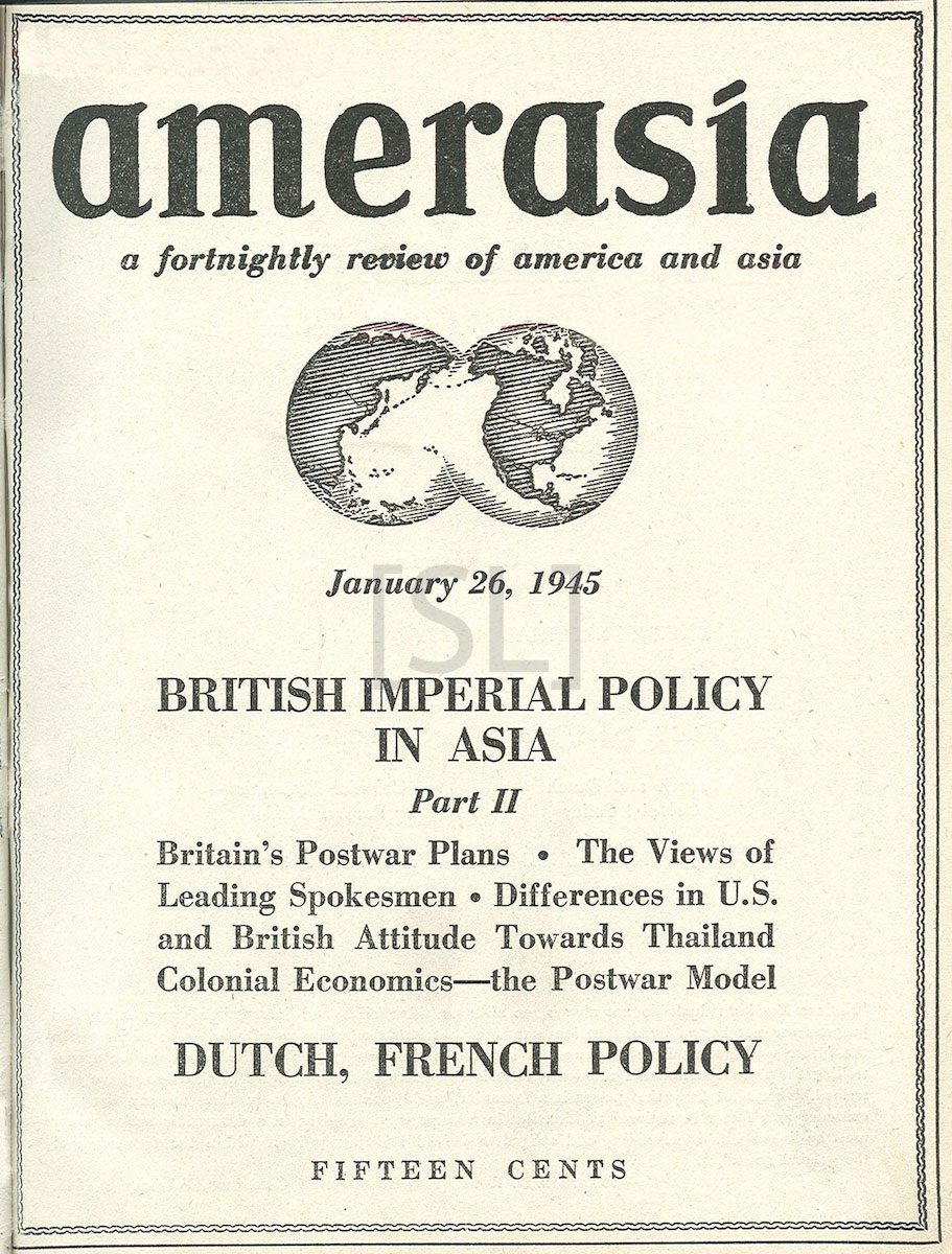 Amerasia; A Fortnightly Review of America and Asia