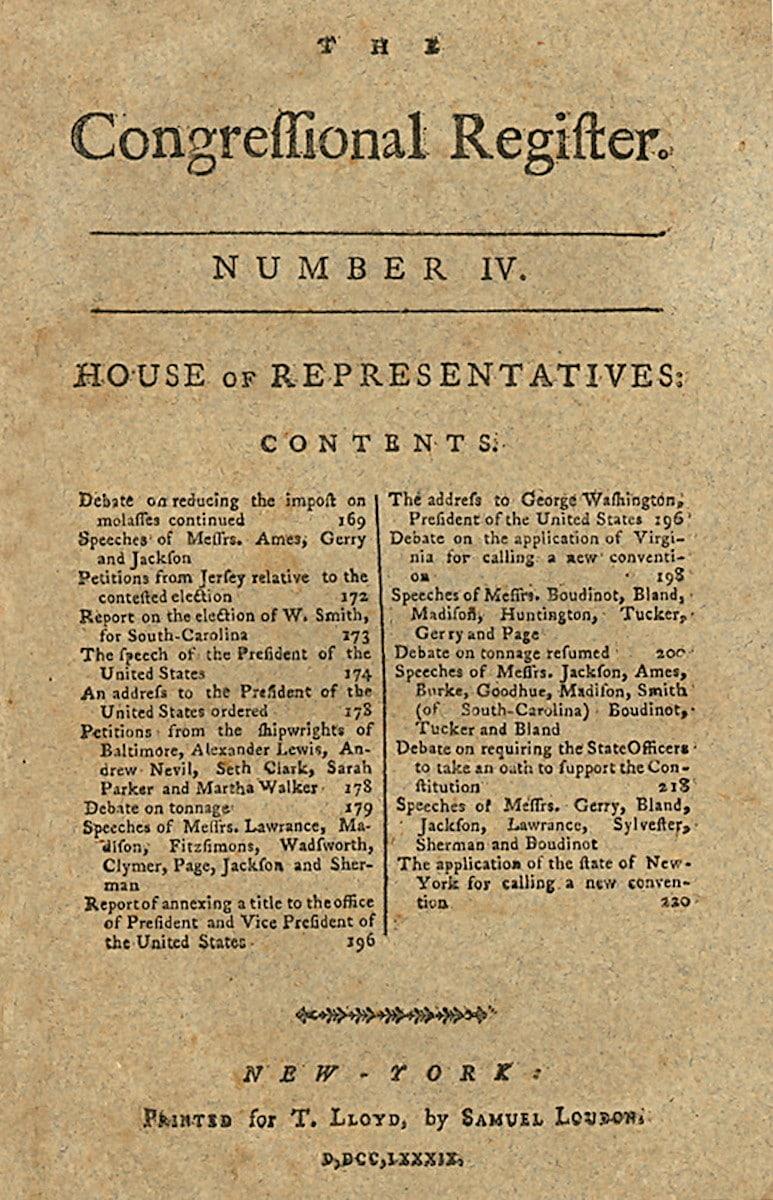 Congressional Register