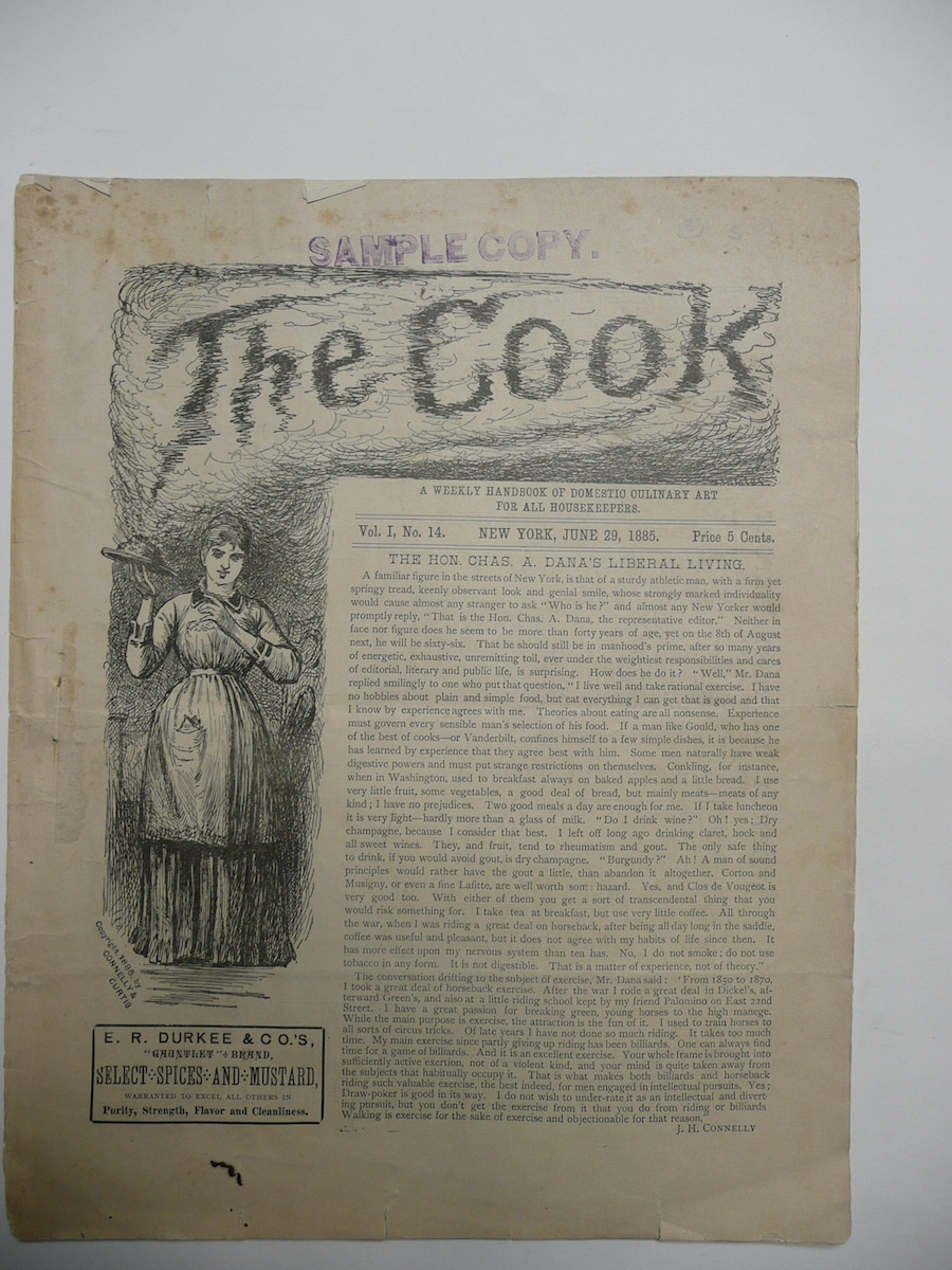 Cook; A Weekly Handbook of Domestic Culinary Art For All Housekeepers.