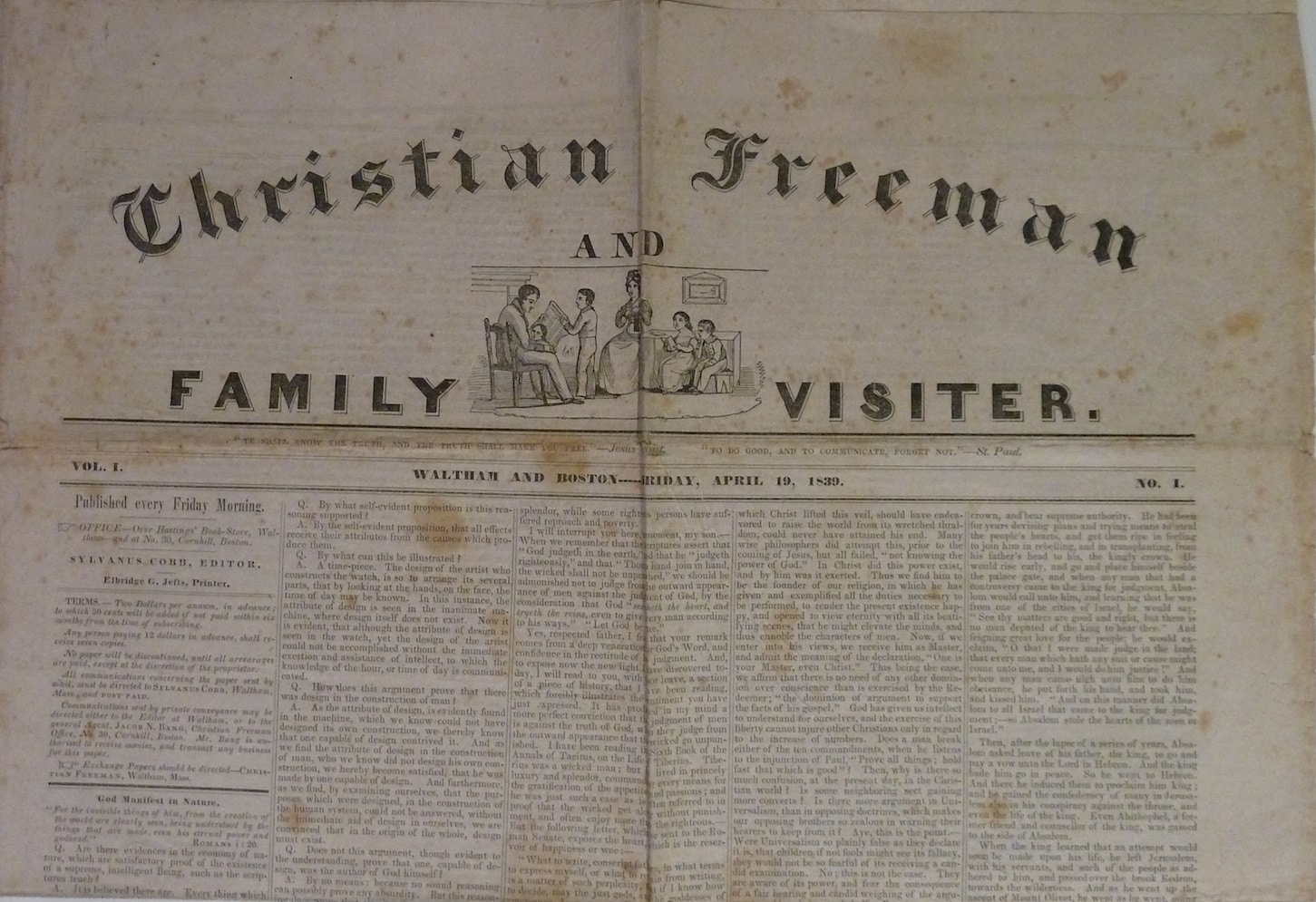 Christian Freeman and Family Visitor