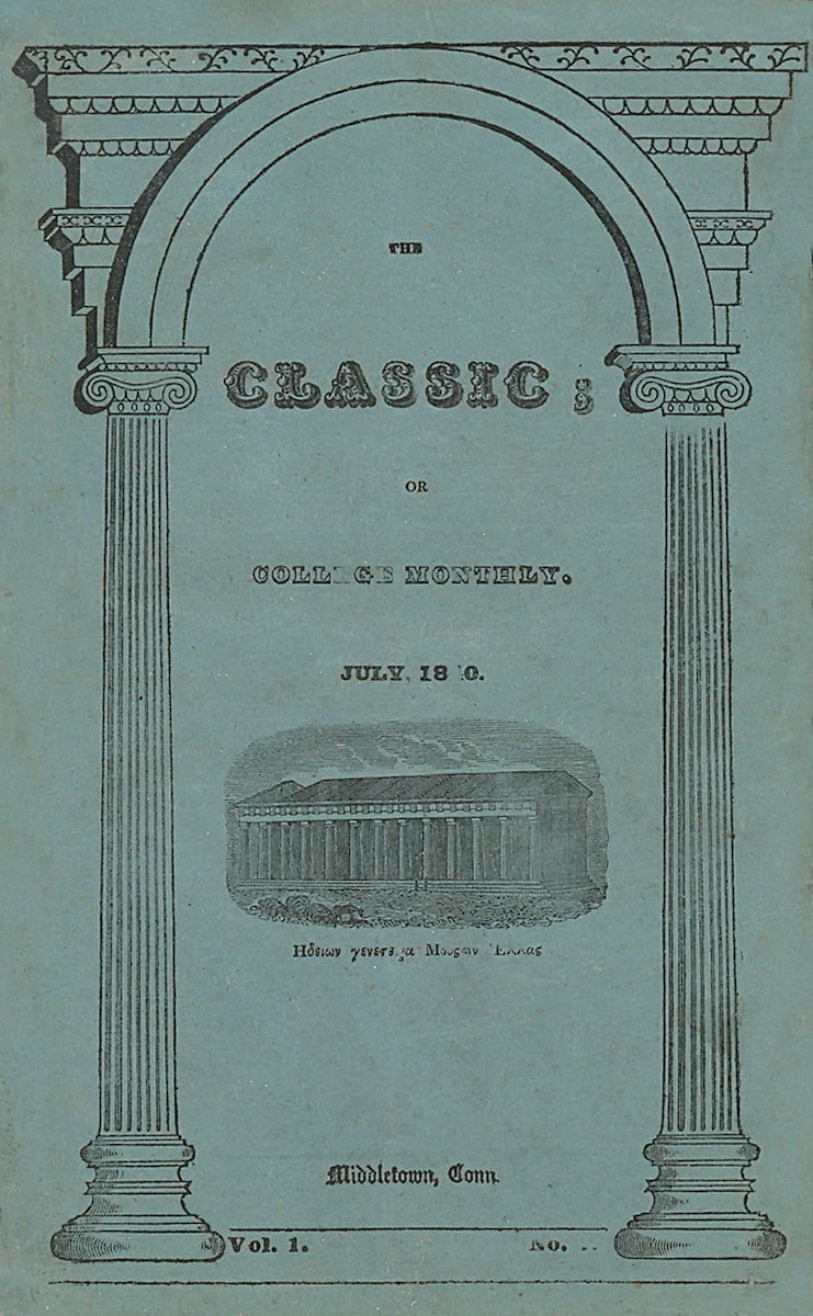 Classic, Or College Monthly; A Magazine Devoted To Literature, Science and Morality