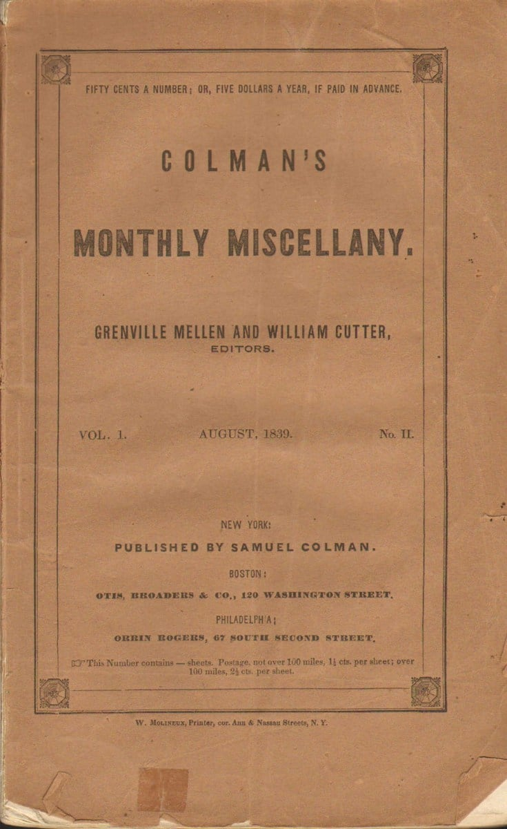 Colman's Monthly Miscellany