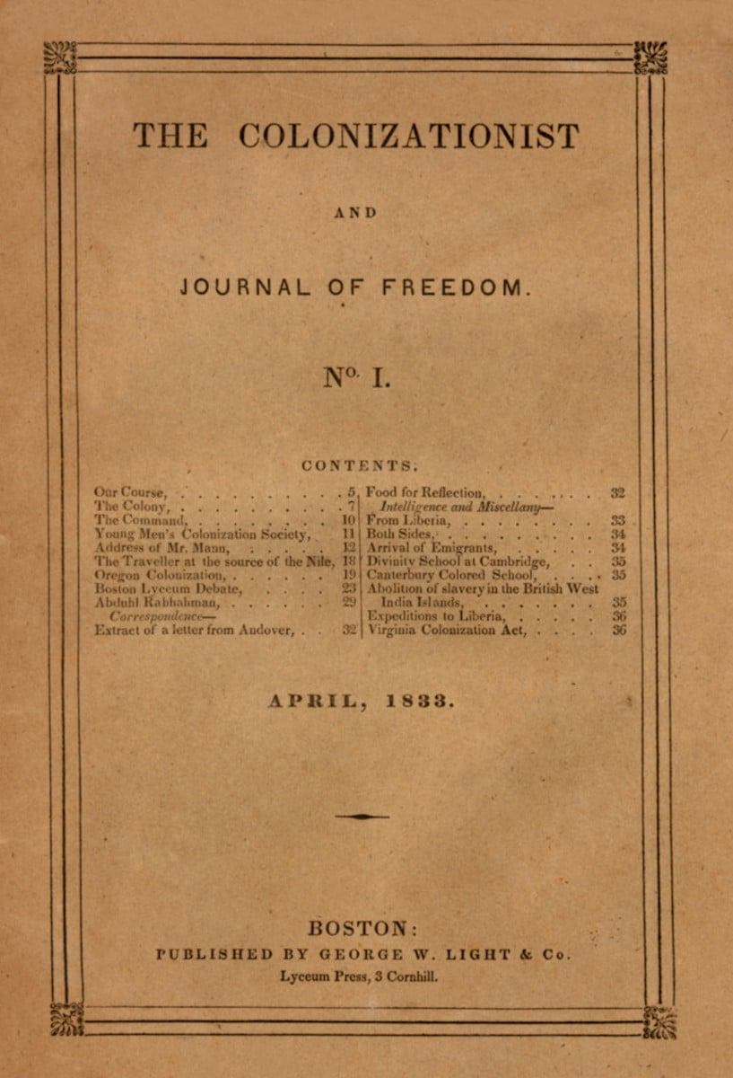 Colonizationist and Journal of Freedom