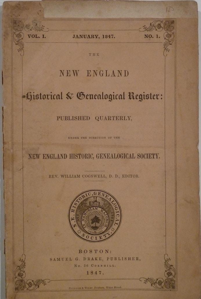 New England Historical & Genealogical Register