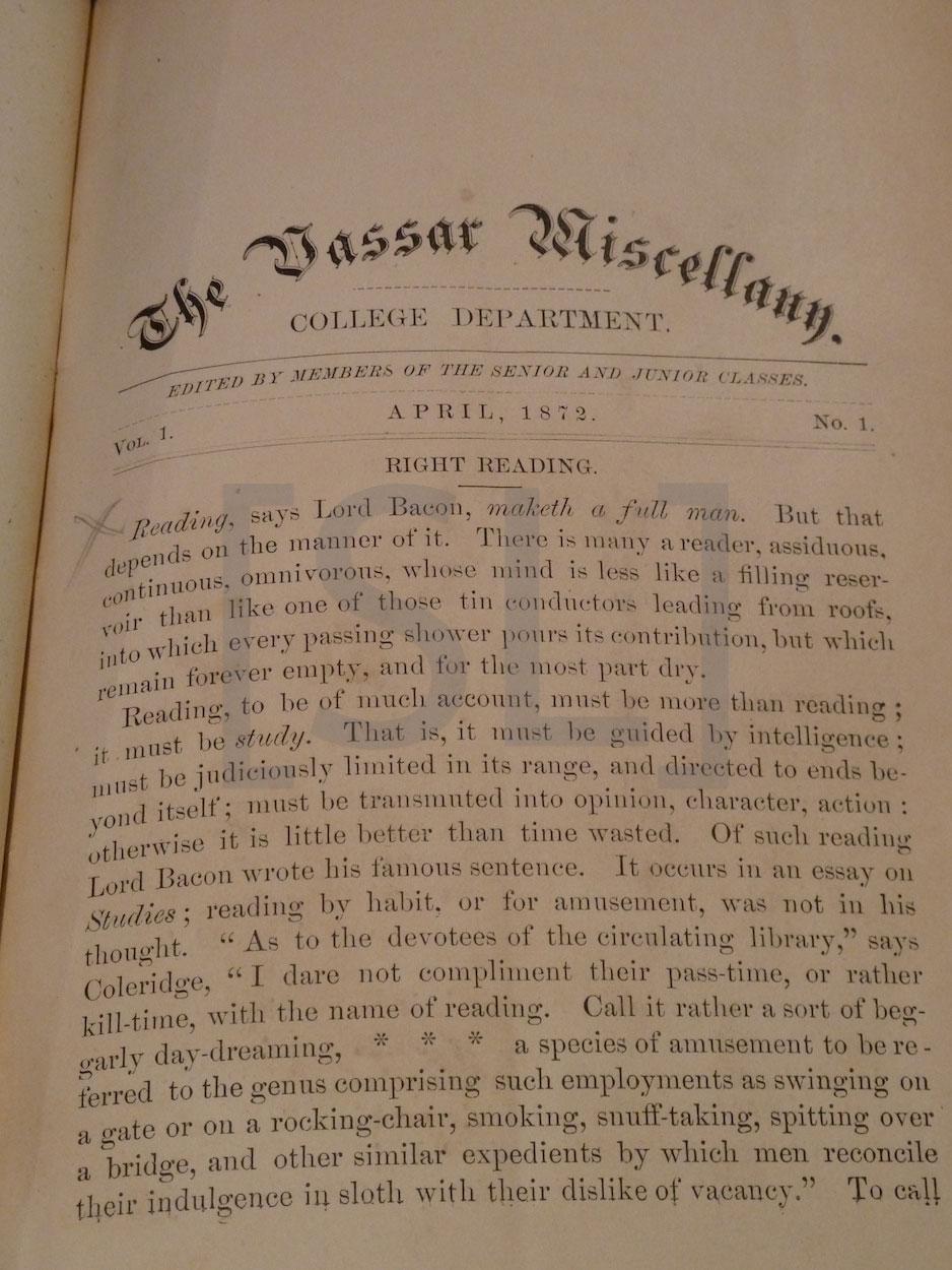 Vassar Miscellany
