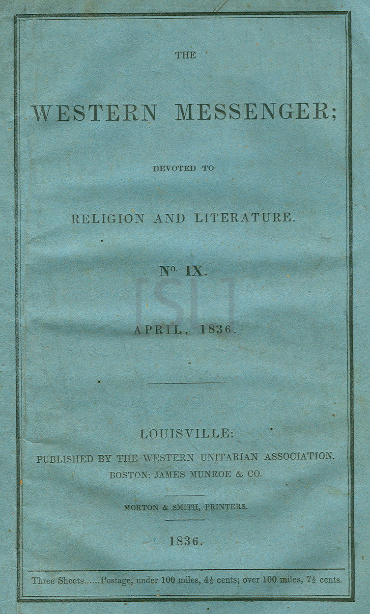 Western Messenger; Devoted to Religion and Literature