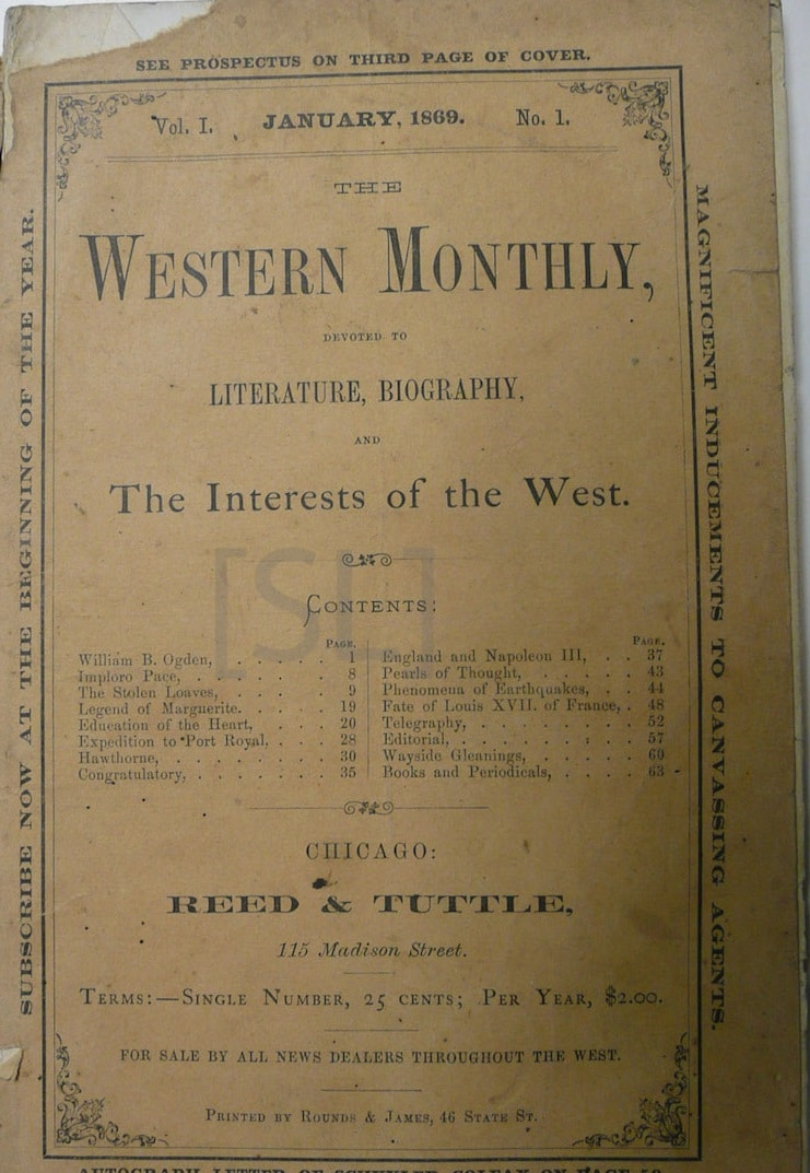 Western Monthly, Devoted to Literature, Biography, and the Interests of the West