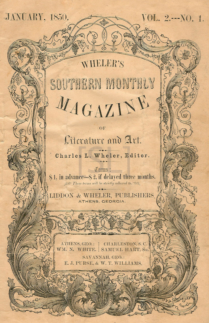 Wheler's Southern Monthly Magazine of Literature and Art