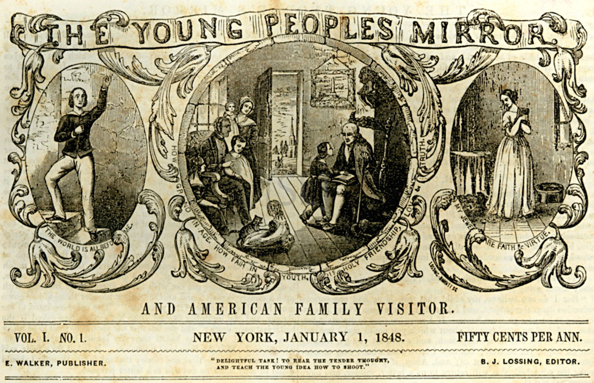 Young Peoples Mirror and American Family Visitor