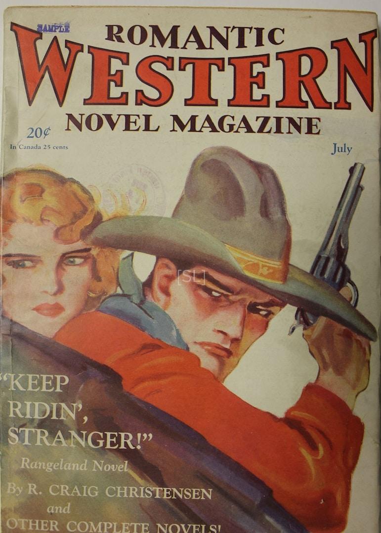 Romantic Western novel Magazine
