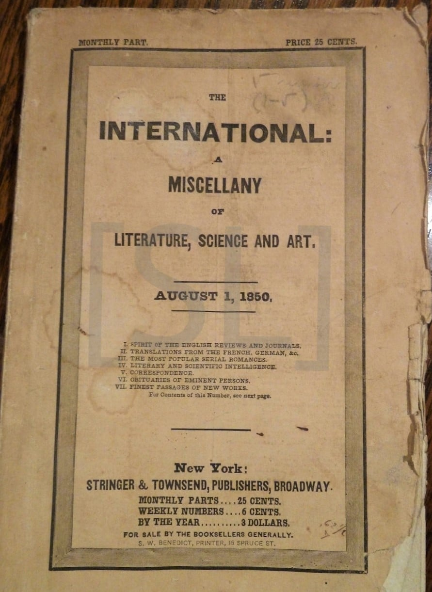 International: A Miscellany of Literature, Science and Art