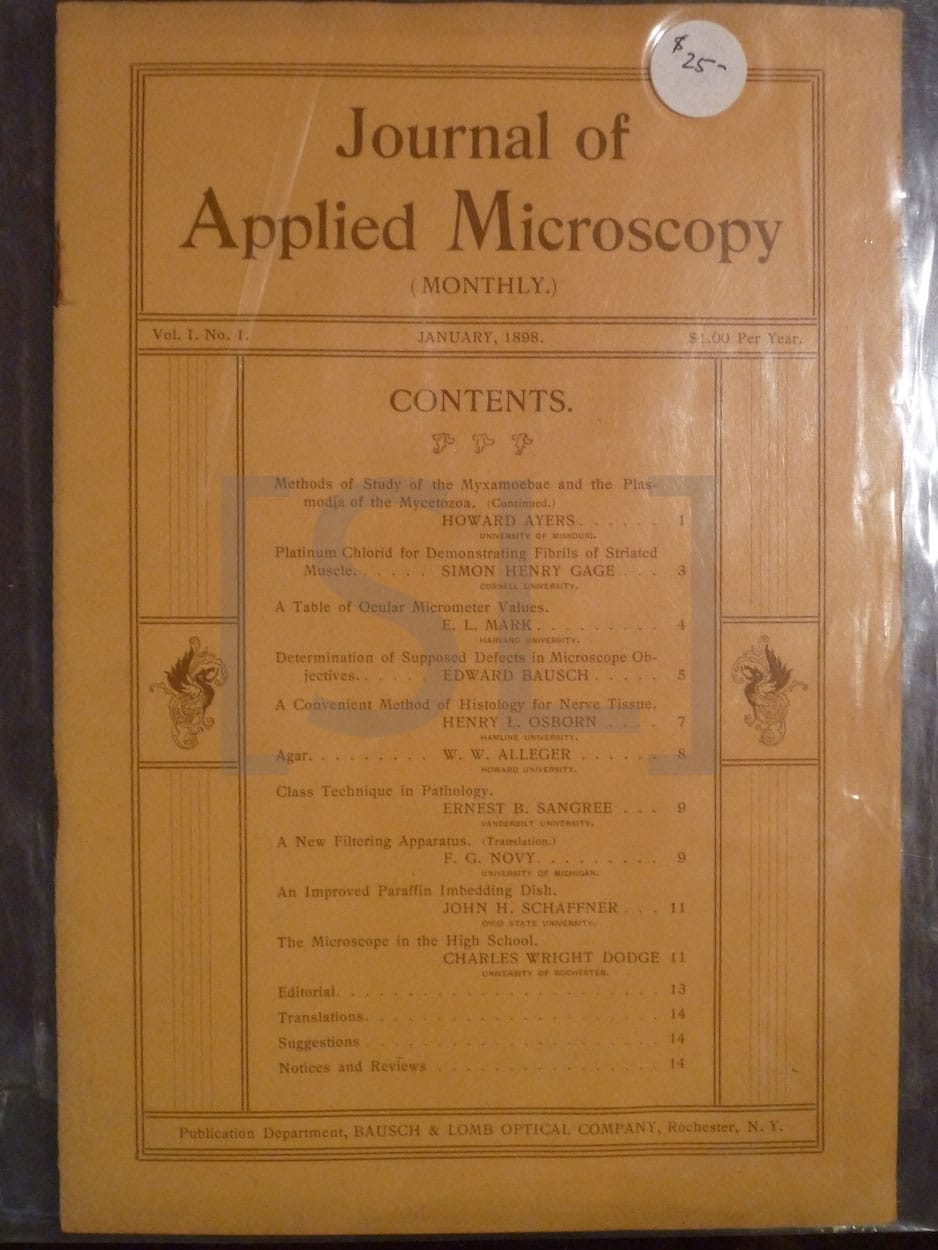 Journal Of Applied Microscopy; Monthly